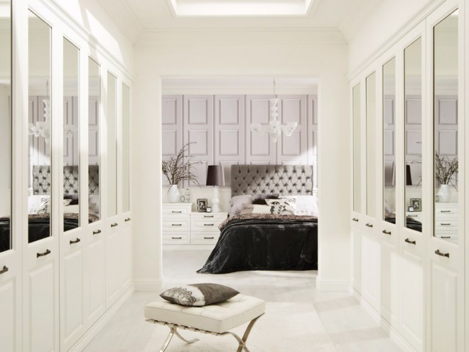 Bosworth White Contemporary Bedroom