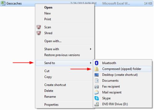 Send To Compressed Folder