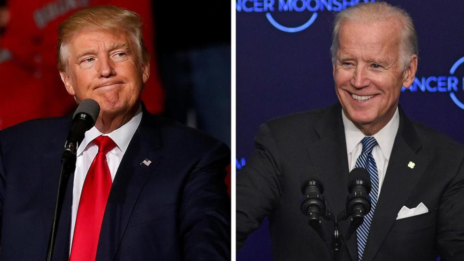 Trump and Biden first debate for presidential election 2020 in Ohio.