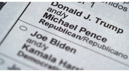2020 election ballots water marked
