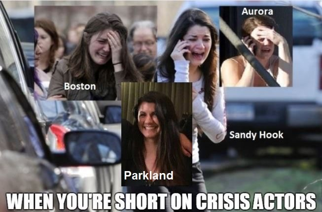 crisis actors are actors that act on the news for hoax stories. sandy hook, Boston marathon bombing, aurora movie theater, parkland