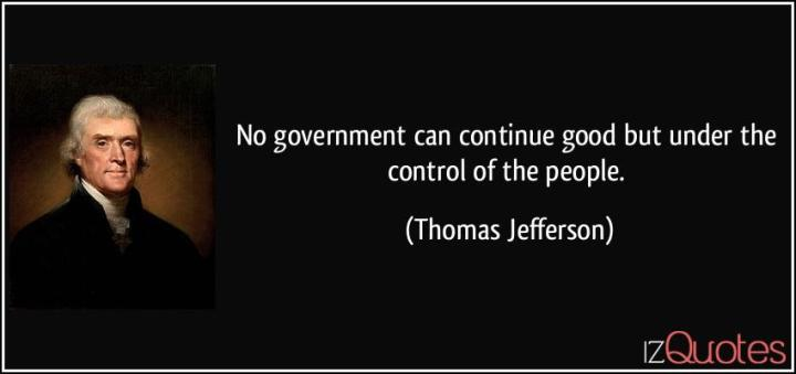 Government control goes against the Constitution.