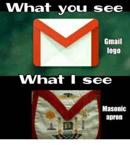 masonic apron and gmail google logo