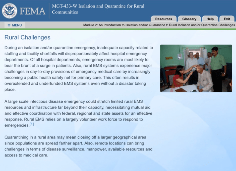 """concentration camps for the unvaccinated. emergencies and disasters can overrun rural hospitals. So, if it does, it is necessary for """"federal, regional, and state assets"""" to help provide relief. This slide is disturbing when you consider two scenarios. The first scenario, imagine the trainee (or doctor) was not informed that it was necessary and permissible for federal, regional, or state """"assets"""" to come on the scene and take over their emergency room and patients. How do you imagine a doctor might react if people in white hazmat suits came rushing in unannounced? The doctor might question these people, or the doctor may be protective over their patients. Essentially, the doctor might try to step-in, or in their minds: get in the way. The second scenario, the trainee (or doctor) is informed that a hazmat parade might demand a takeover. I imagine the scenario would be quite different, as the trainee has already been briefed that this type of infiltration is possible and permissible; all for the sake of human health, right?"""