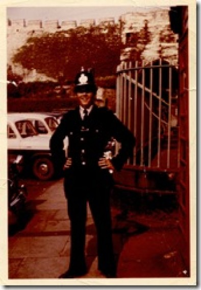 Dad as proud police officer when I was 1 year old