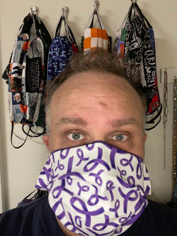 Purple Ribbon Awareness Face Mask #PurpleRibbon
