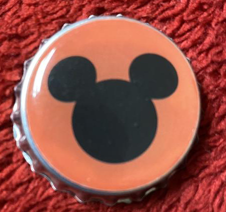 Mickey Ears Bottle Cap Magnet - a bottle cap with Pluto on it. #MickeyEars #MickeyMouse