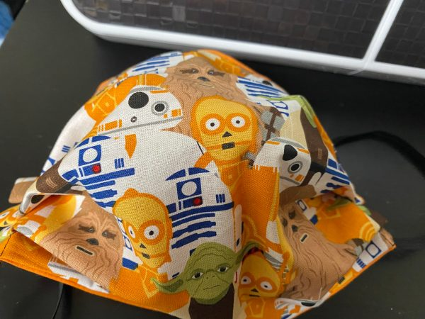 Star Wars Face Mask - A Star Wars Themed Face mask with some of the Star Wars Characters on it. #StarWars