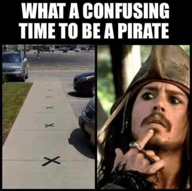 What a confusing time to be a pirate - a funny social distancing theme using a pirate.
