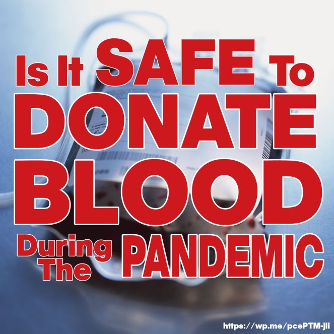 Is it safe to donate blood during the pandemic? According to the Centers for Disease Control and Prevention, it is .... to donate blood. (Learn more!)