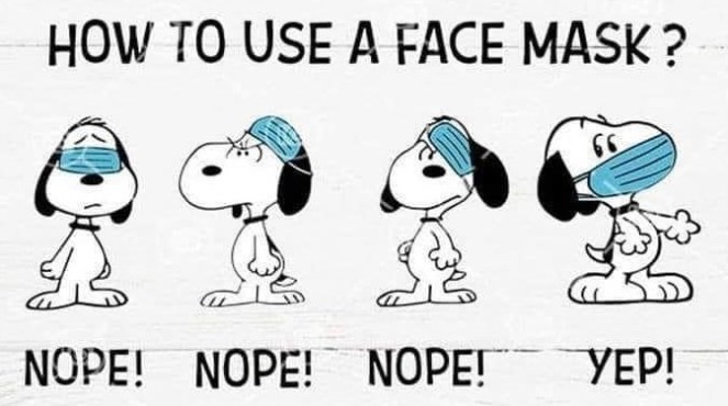 Snoopy How To Use A Face Mask