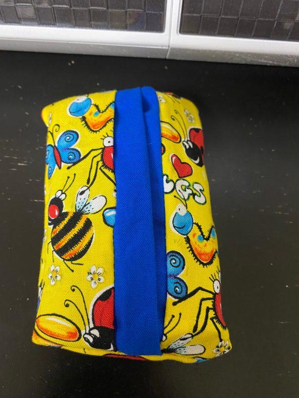 Happy Bugs Pocket Tissue Holder - a handmade way to keep your pocket tissue pack in. #PocketTissueHolder #Bugs