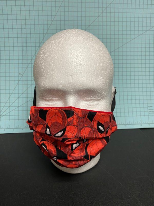 Spider-Man Face Mask - Here is a face mask with the mask of Spider-Man on it. #Spiderman