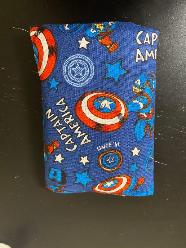 Captain America Pocket Tissue Holder - Let Captain America hold your pocket tissues in this pocket tissue holder featuring Captain America. #CaptainAmerica #Marvel
