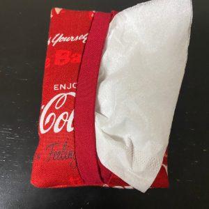 Coke Pocket Tissue Holder - A Coke-themed pocket tissue holder. #Coke