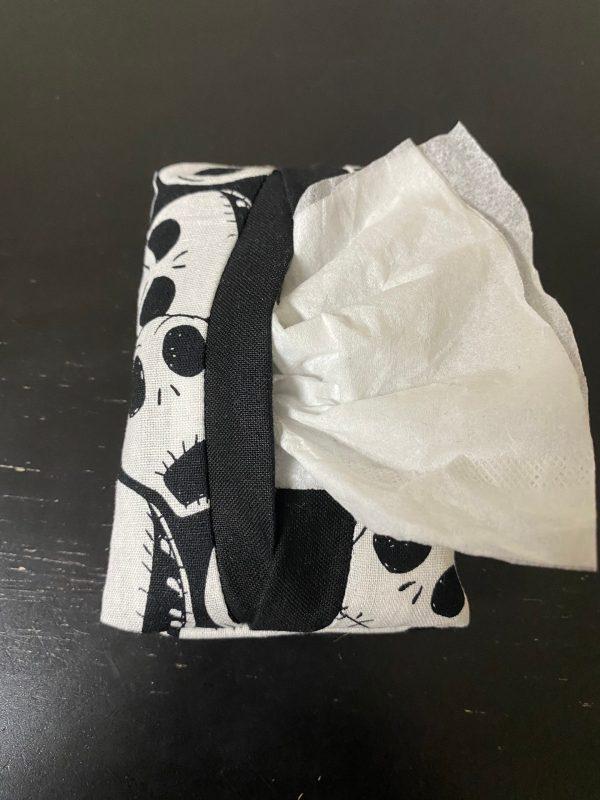 Jack Skellington Pocket Tissue Holder - Jack Skellington from Nightmare Before Christmas will hold onto your tissues in this pocket tissue holder. #JackSkellington #NightmareBeforeChristmas