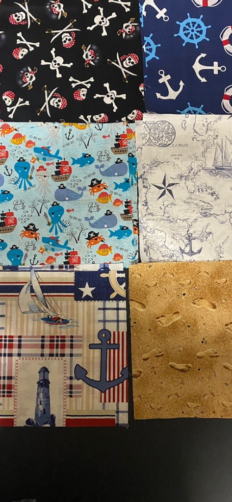 Nautical Quilt Panels for my 1st quilt attempt