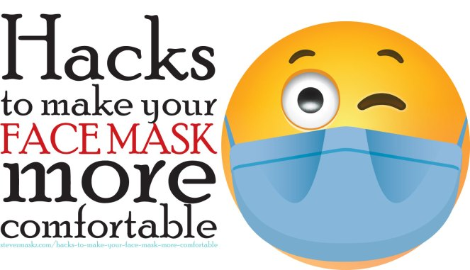 Hacks to make your face mask more comfortable - Here are some hacks and tips that could help make wearing your face mask more comfortable. #facemasks