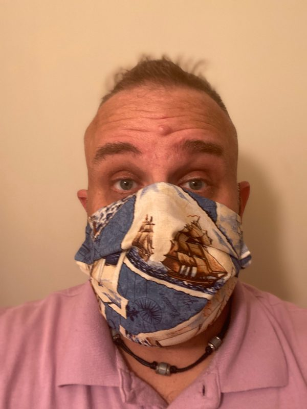 Ships of the Sea Face Mask - This is a great face mask for those who likes the ships you find at sea. #Ships #Sea