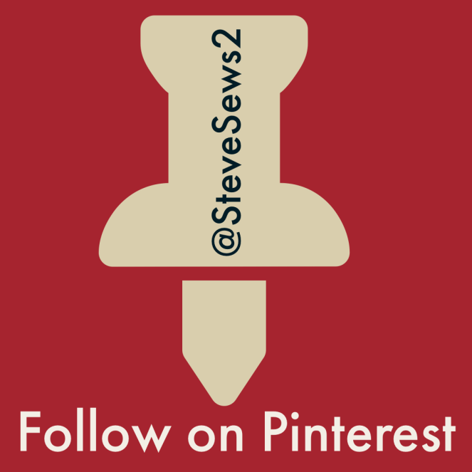 Follow on Pinterest - You Can Follow Steve Sews Stuff on Pinterest. #Pinterest @SteveSews2