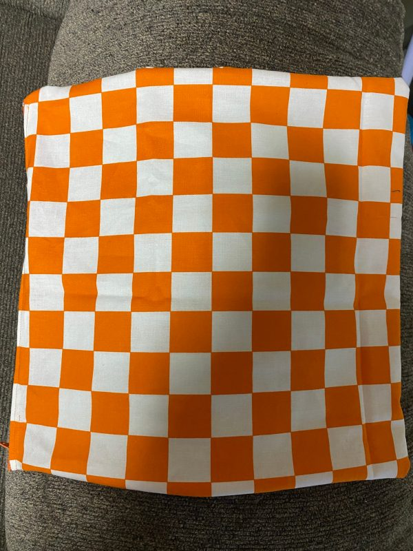 Orange and White Checkerboard Decorative Pillow - This is great for anyone who is a Vols fan or likes the color orange. #Orange #Vols #VFL