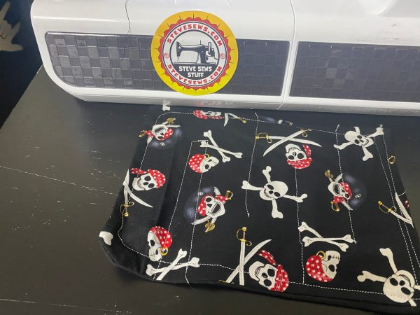 Pirates Fidget Marble Maze - A Pirate-themed fidget toy that lets you move a marble along a maze and this is homemade using cotton fabric and marble. #Marble #MarbleMaze #Pirate #Pirates