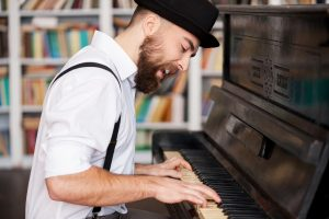Man Singing With Soul At Piano