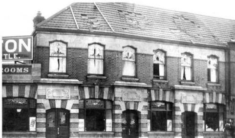 Damage to the Fish Wharf Tea Rooms seen on 20th January 1915.
