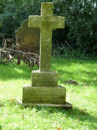 Percy Goate's grave in Hardwick Cemetery in King's Lynn. Sadly there is no photo of him.