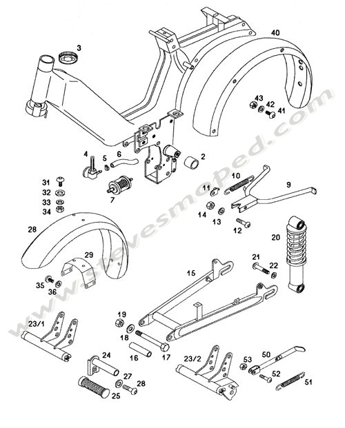 Catalogs / TOMOS SPRINT A55 /FRAME,FENDERS,SWING ARM,KICKSTAN