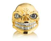 Zeus Skull Ring :: in Rose/White Gold with White Diamonds ...