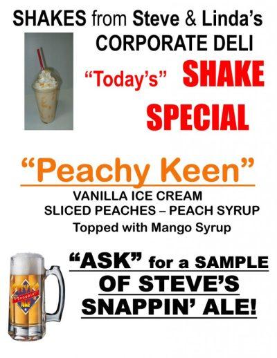 peachy keen shake
