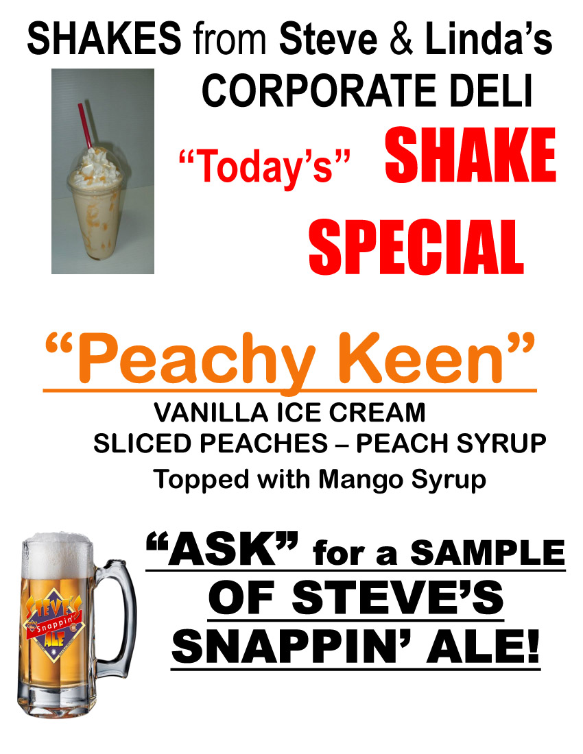 Today's Shake Special – Peachy Keen!