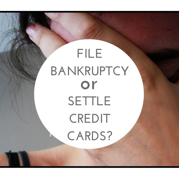 file for bankruptcy or settle credit card debt?