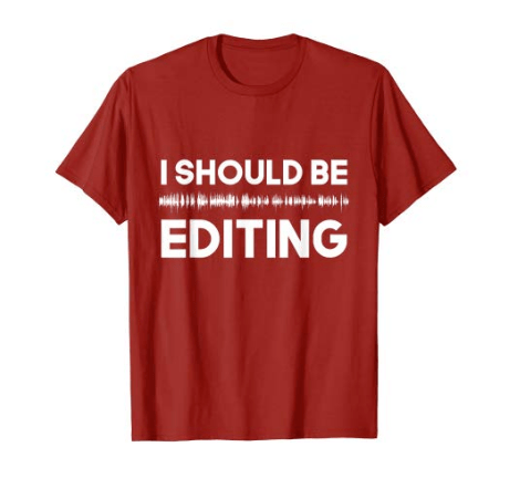 t-shirt i should be editing red