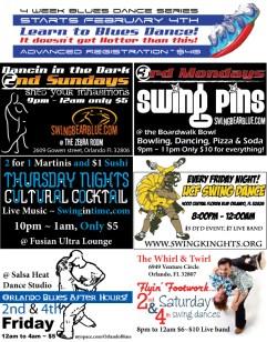 Weekly Swing Dancing flyers