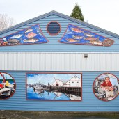 Public mural project, SHA public washroom building, December, 2015