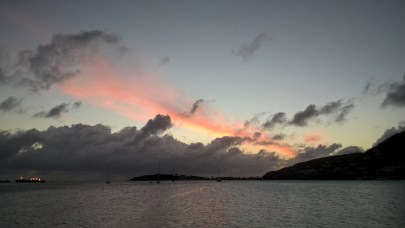 Sunset off St. Kitts
