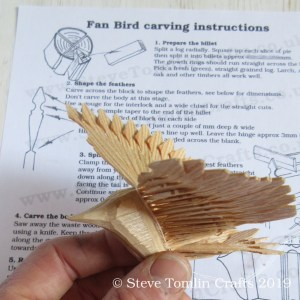 how to carve a fan bird instructions