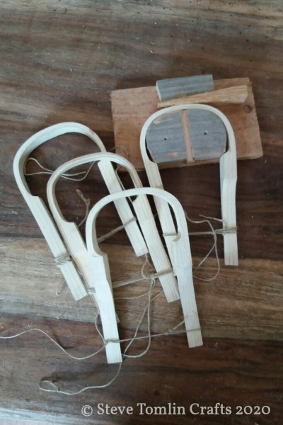 Steam bent packbasket handles