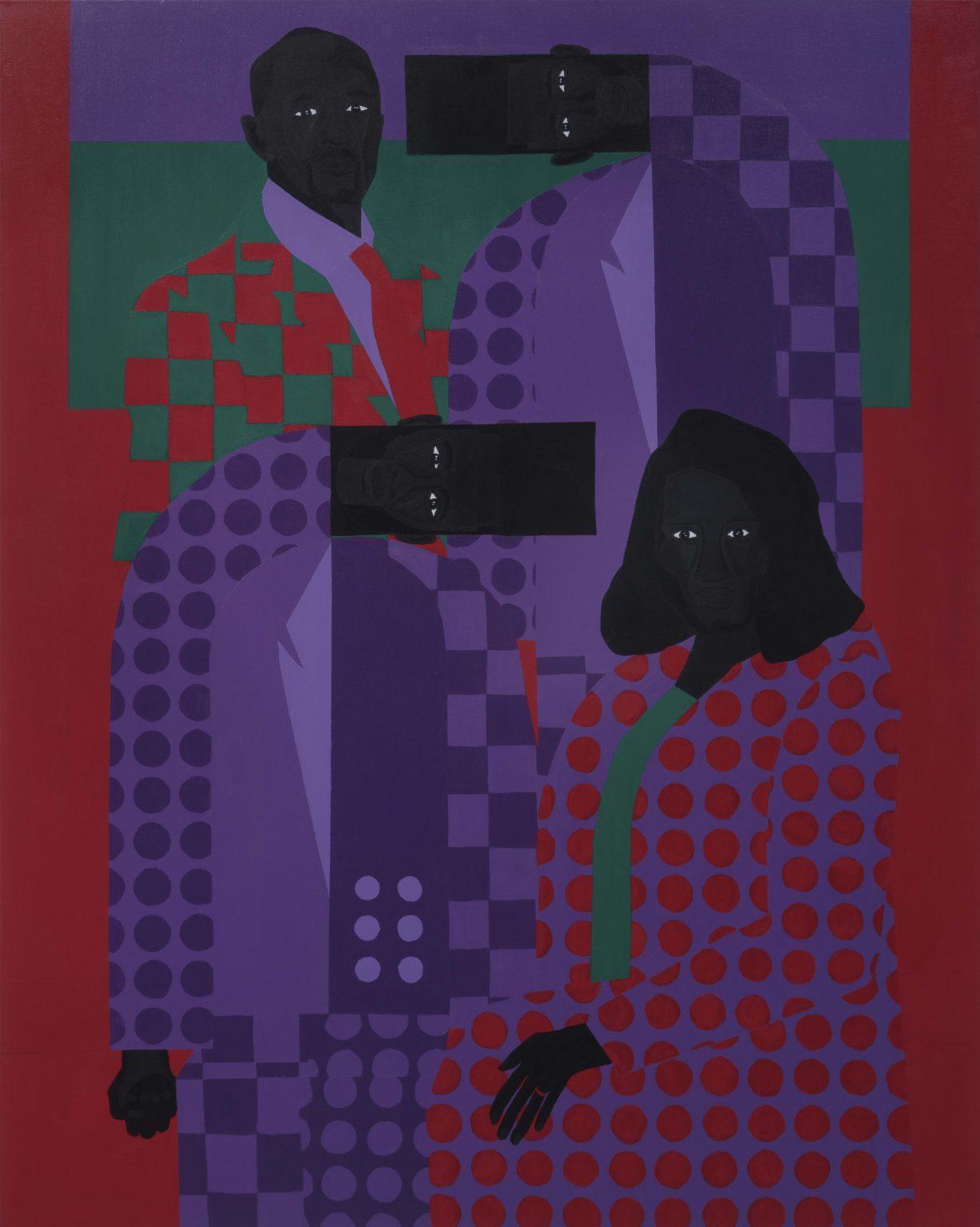 Jon Key. Family Portrait No. 6 (The Key Family). 2020. Acrylic on canvas. 60 x 48 inches (152.4 x 121.9 cm)   Steve Turner