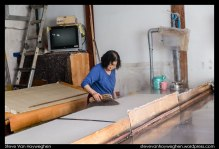 Hanji is hand-made paper made from the inner bark of the mulberry tree.