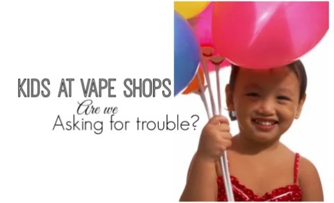 kids at vape shops