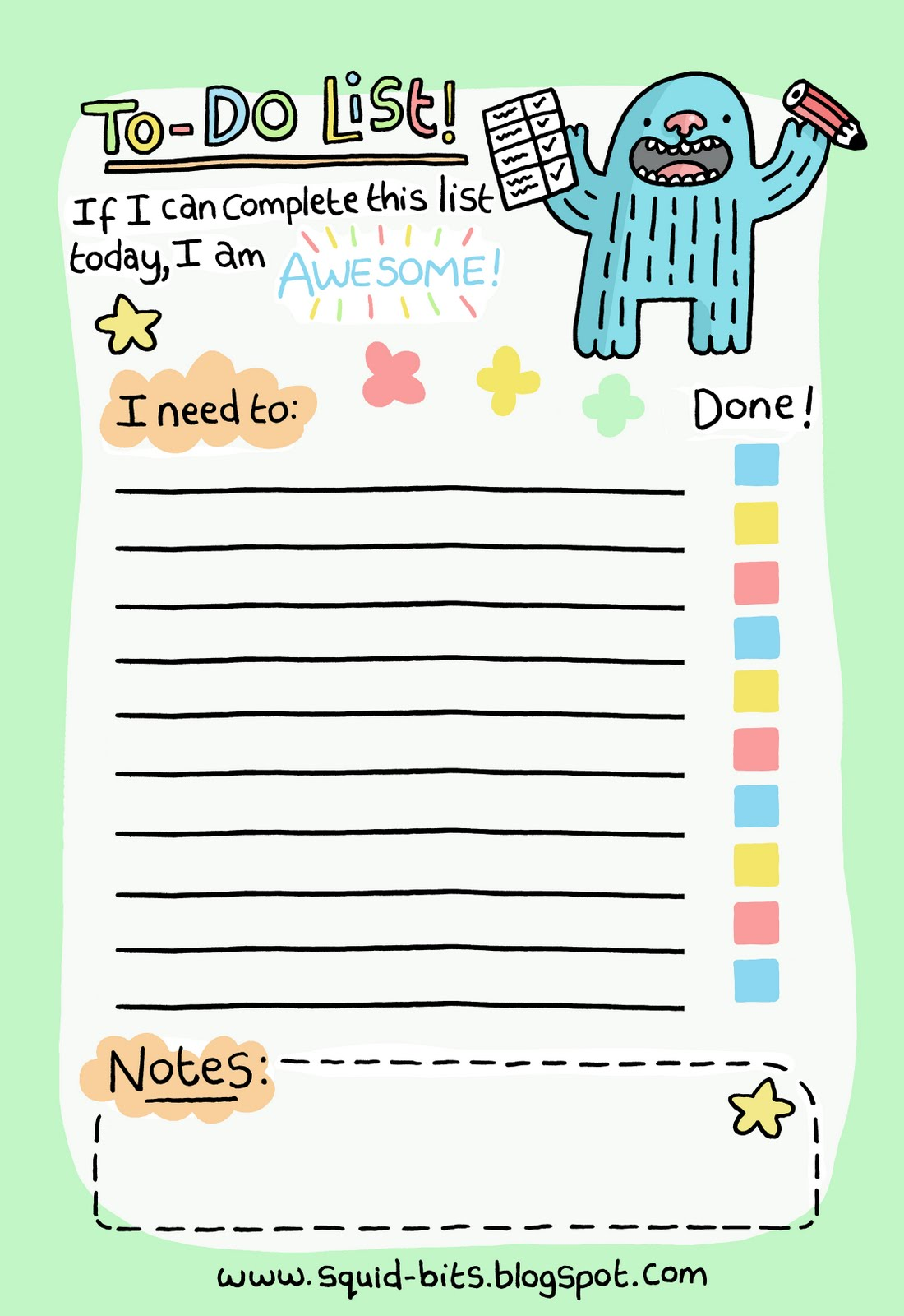 daily to do list cute