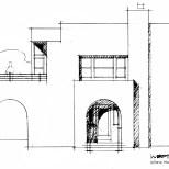 artist studio side elevation steve wallet architect