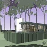 kaun house model by steve wallet architect