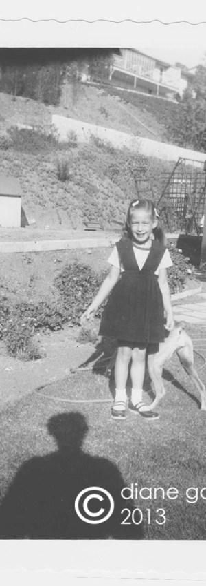 diane tischler (garver) and dog 1952