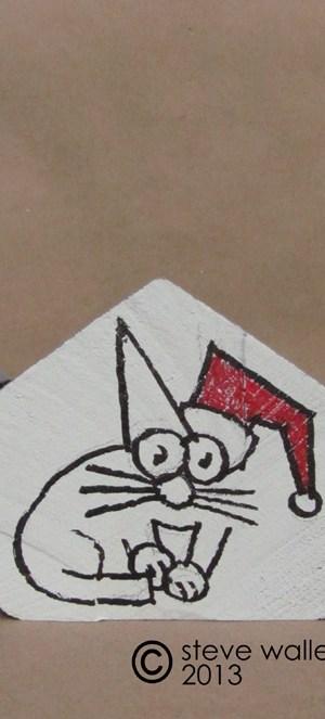steve wallet architect holiday wood scrap house cat single closeup 11-13-2013