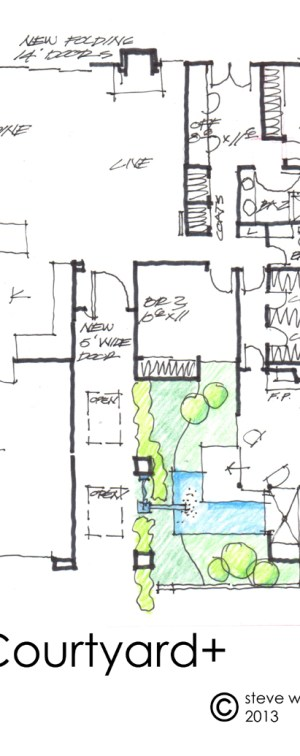 house addition courtyard plan