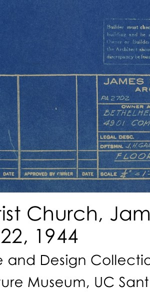 James Garrott Bethlehem Baptist Church title block 1944-5-22